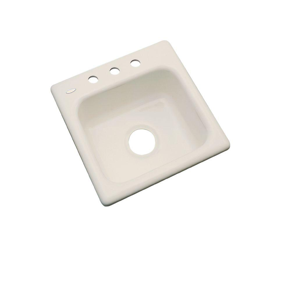 Thermocast Manchester Drop-In Acrylic 16 in. 3-Hole Single Bowl Entertainment Sink in Desert Bloom
