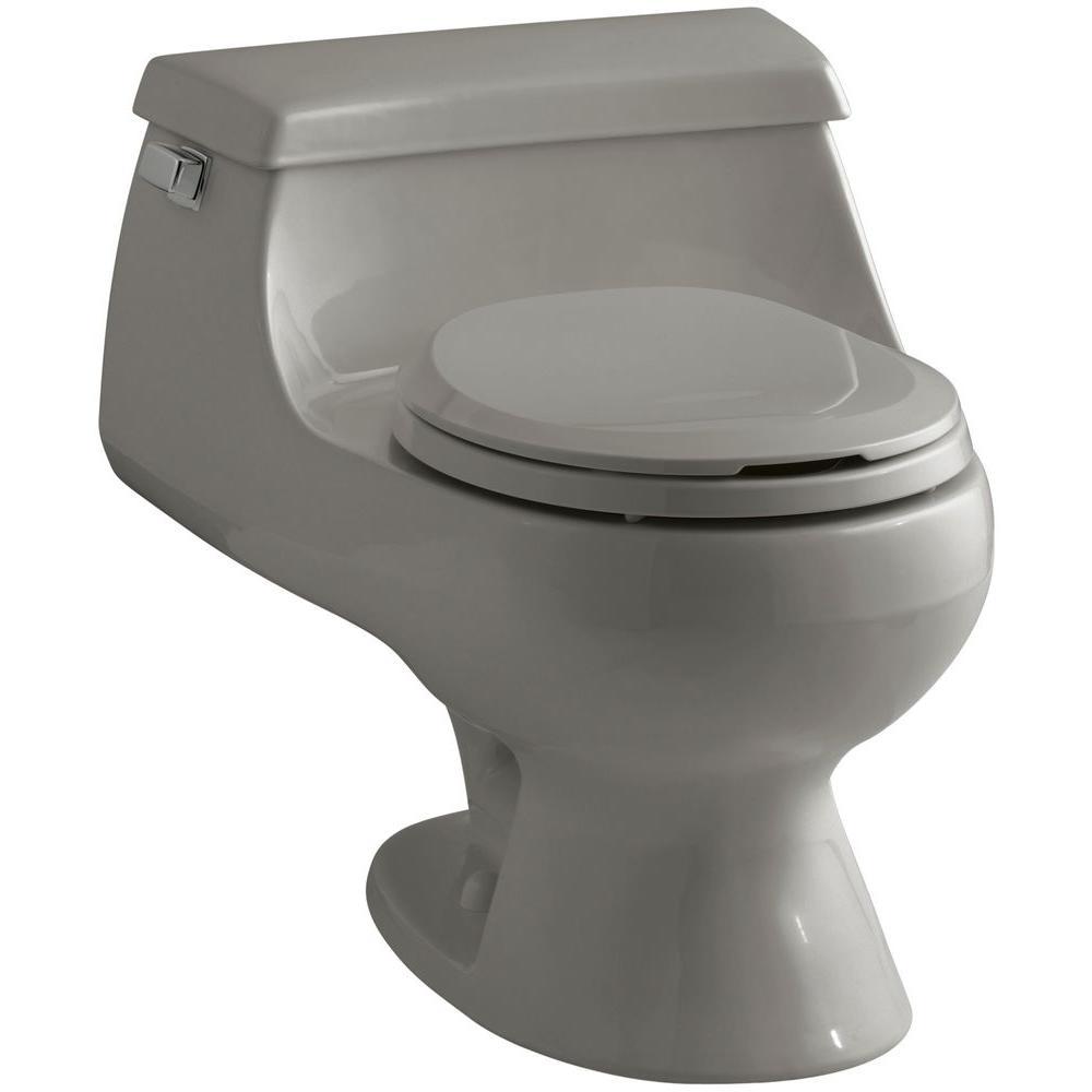 KOHLER Rialto 1-piece 1.6 GPF Single Flush Round Toilet in Cashmere