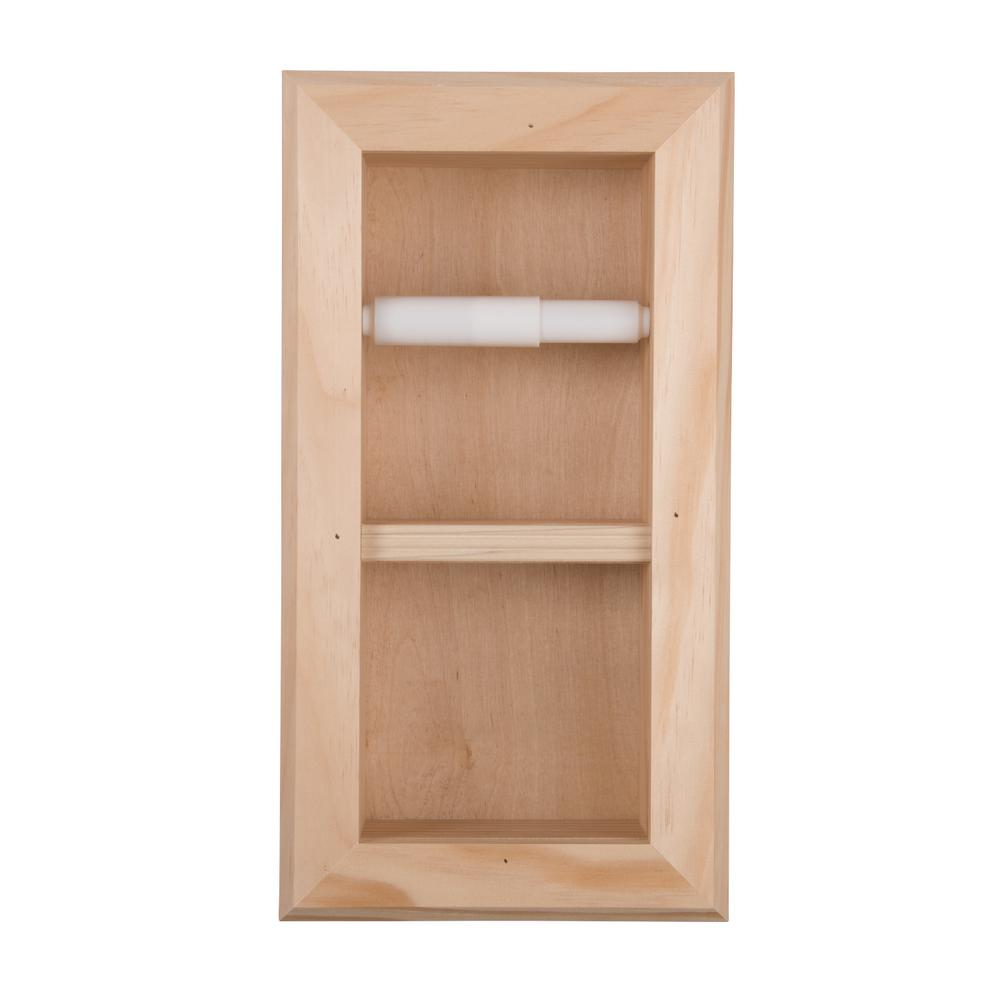 Newton Recessed Toilet Paper Holder 12 Holder in Unfinished with Bevel Frame