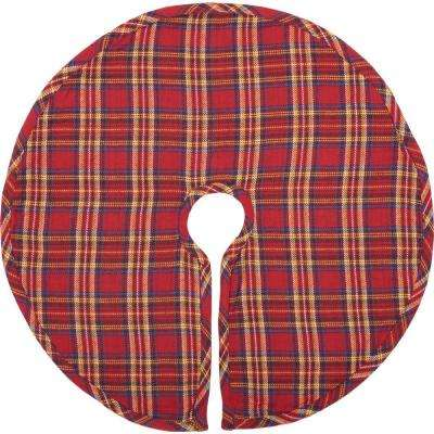 21 in. Galway Barn Red Rustic Christmas Decor Mini Tree Skirt