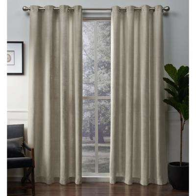 Winfield 54 in. W x 84 in. L Metallic Sheen Grommet Top Curtain Panel in Gold (2 Panels)