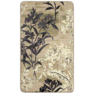 Cora Taupe 2 ft. x 4 ft. High Definition Printed Memory Foam Area Rug
