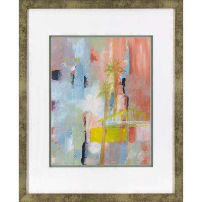 21.5 in. x 17.5 in. Blushing Abstract Printed Framed Wall Art