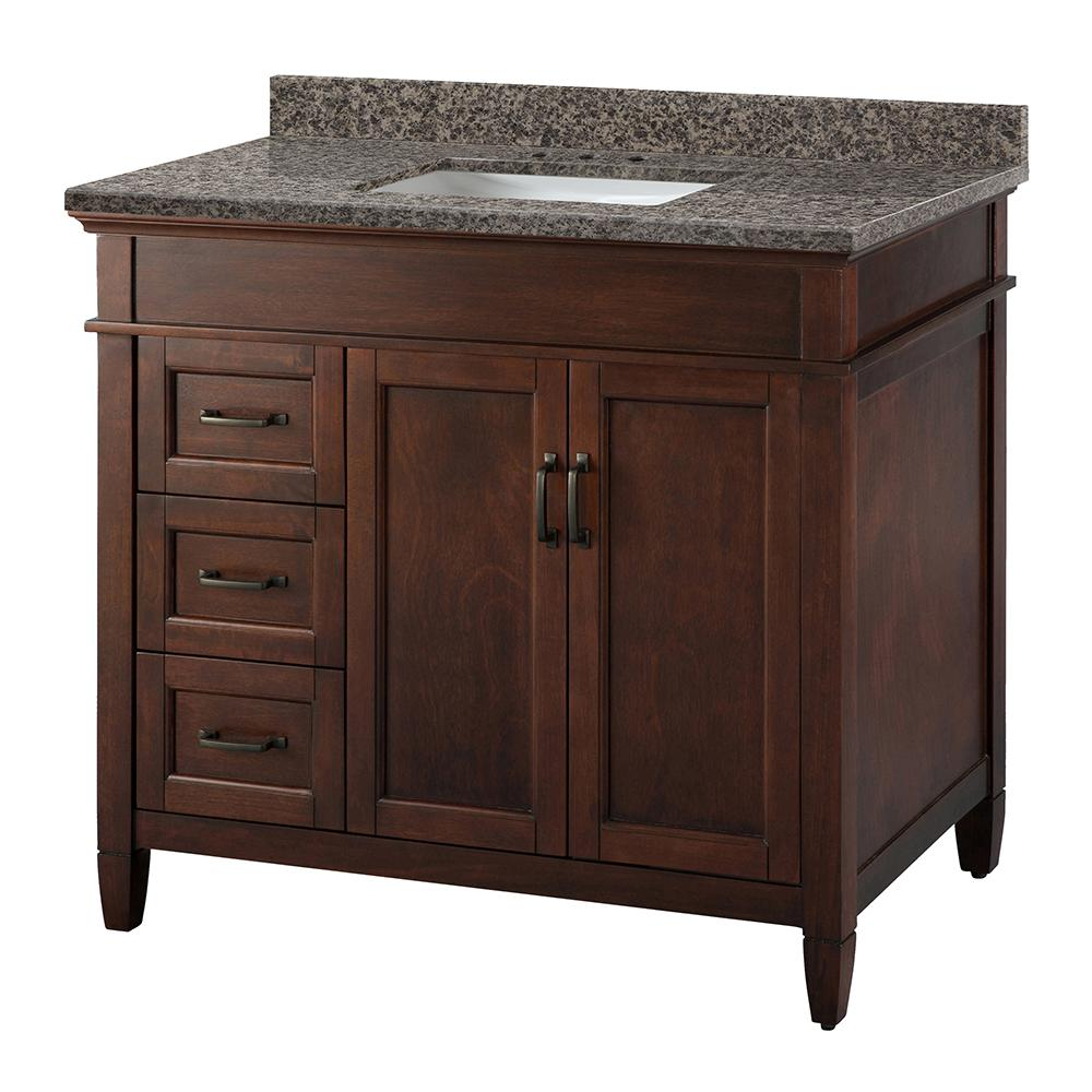 Foremost Ashburn 37 In X 22 In Vanity In Mahogany With