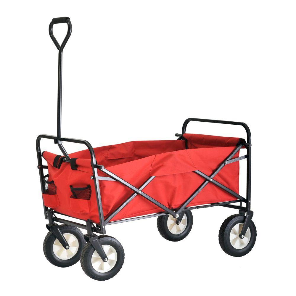 3.5 cu. ft. 22 in. W Folding Utility Cart