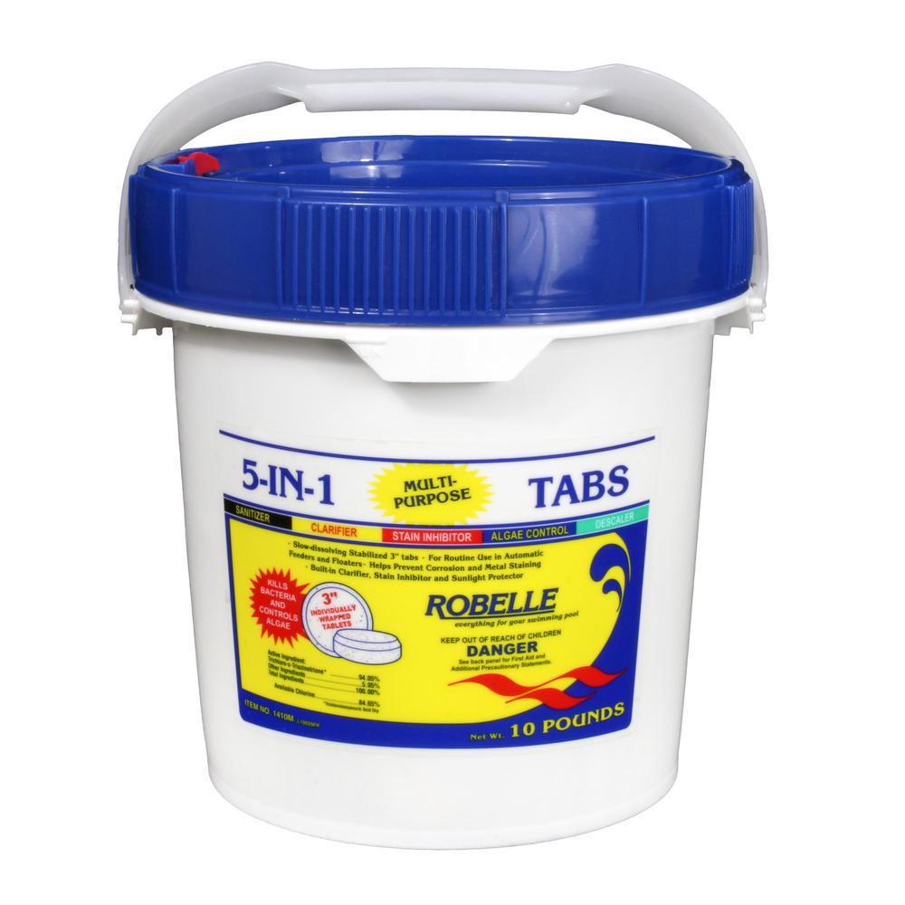 10 lb. Pool 5-In-1 Multi-Purpose 3 in. Chlorinating Tabs