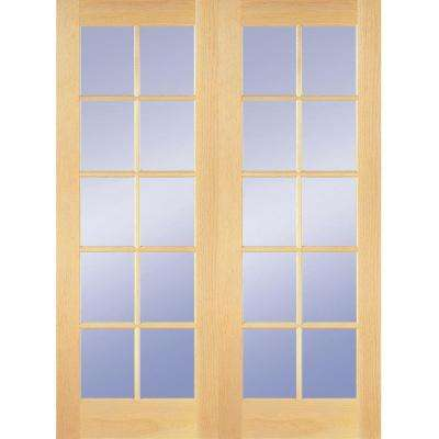 48 in. x 80 in. 10-Lite Clear Wood Pine Prehung Interior French  sc 1 st  The Home Depot : 48 door - pezcame.com