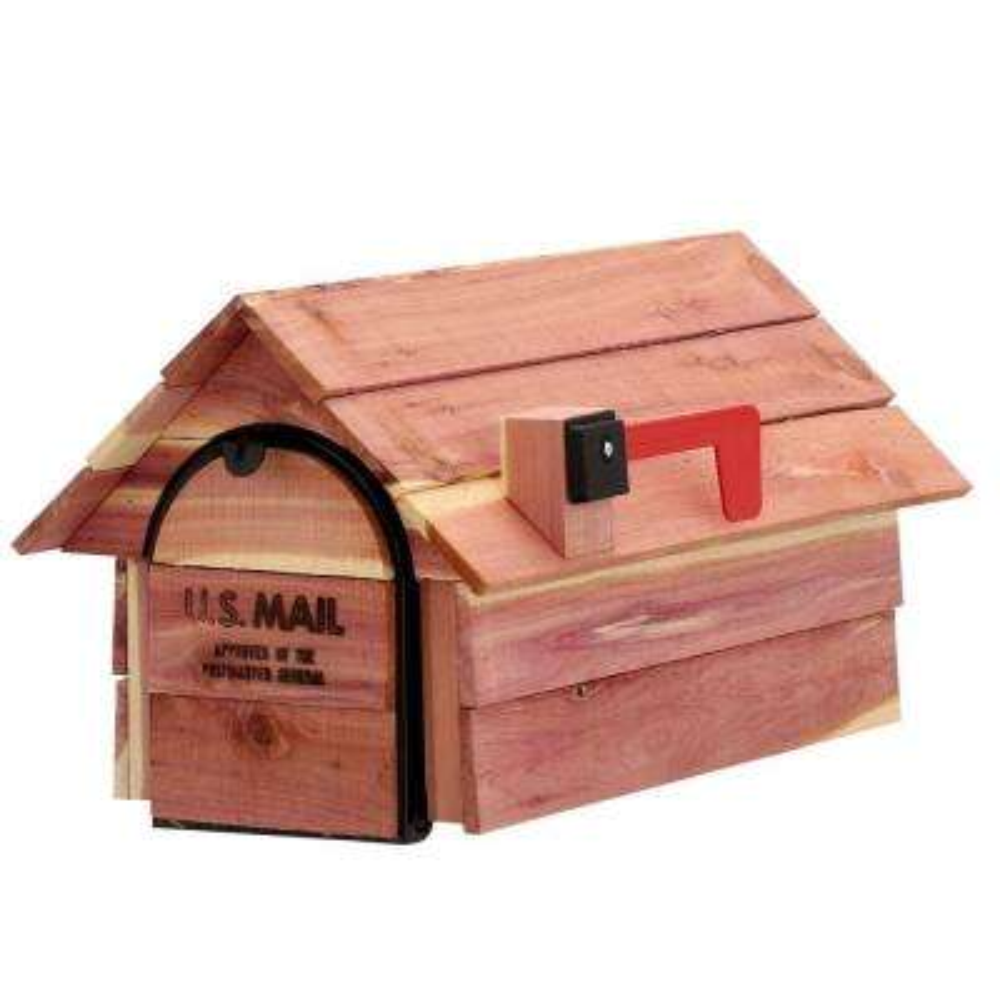 Cedar Chalet Post-Mount Mailbox