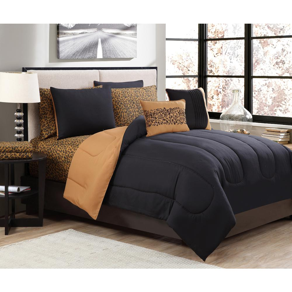 Cheetah 9-Piece King Bed in a Bag