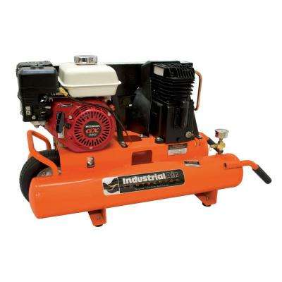 8 Gal. Portable Wheelbarrow Air Compressor with 5.5 HP Honda Gas Engine