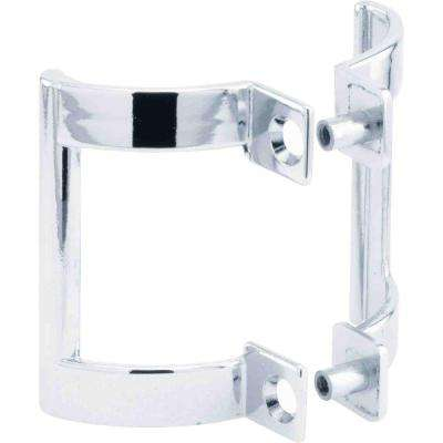 2 in. Chrome Shower Door Handle Set