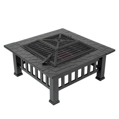 Durango 32 in. x 16.9 in. Square Steel Charcoal Fire Pit