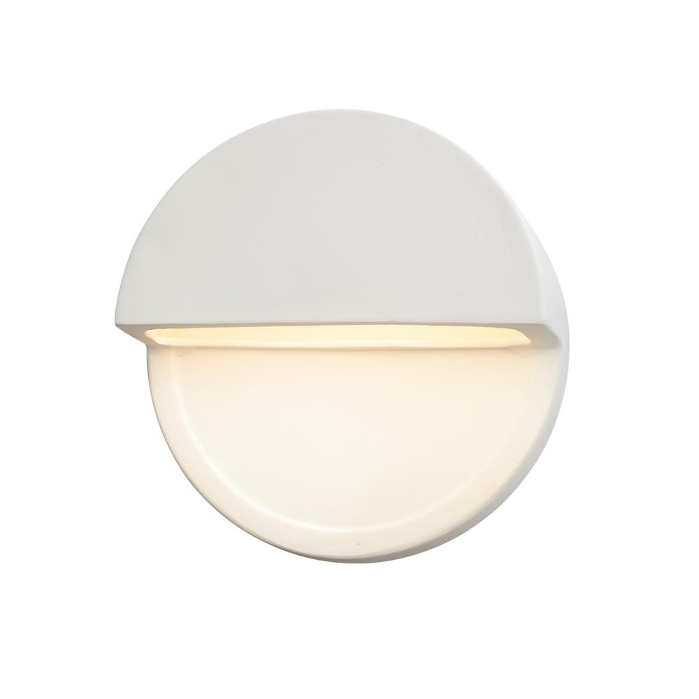 Justice Design Ambiance Dome Bisque Outdoor Integrated LED Sconce