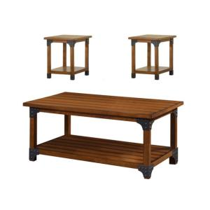 William\'s Home Furnishing Bozeman 3-PieceAntique Oak Living ...