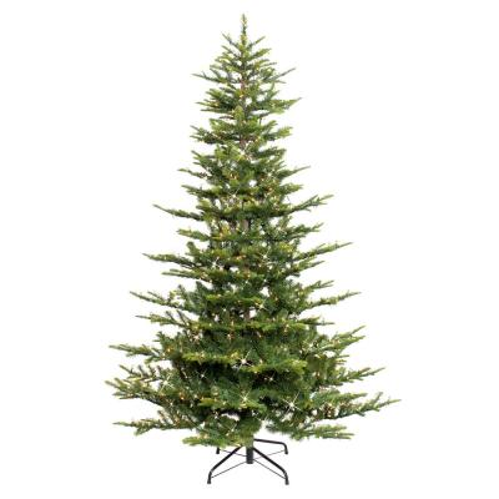 6.5 ft. Pre-Lit Incandescent Aspen Green Fir Artificial Christmas Tree with 500 UL Clear Lights