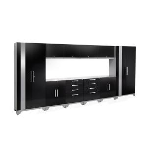 Awesome NewAge Products Performance 2.0 72 In. H X 156 In. W X 18 In. D Garage  Cabinet Set In Black (12 Piece) 53594   The Home Depot