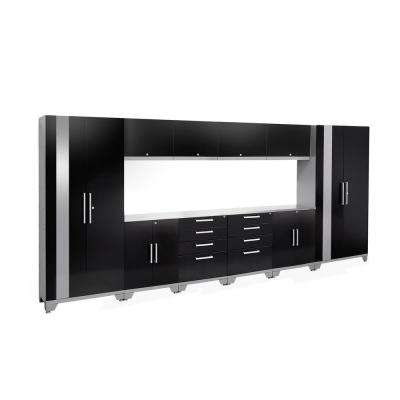 Performance 2.0 72 in. H x 156 in. W x 18 in. D Garage Cabinet Set in Black (12-Piece)