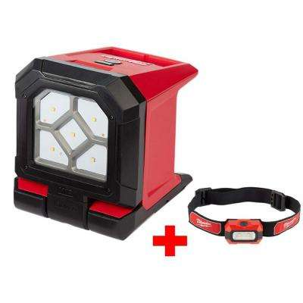 M18 18-Volt Lithium-Ion Cordless 1500-Lumen ROVER LED Mounting Flood Light with Free 300-Lumen LED Headlamp