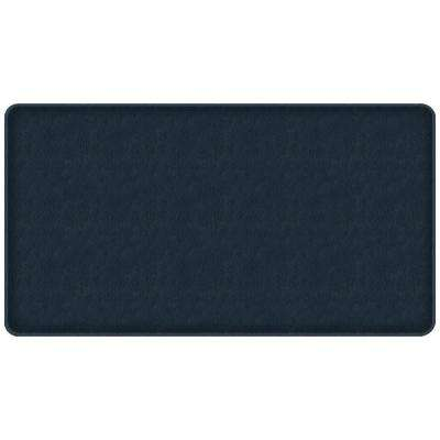 Classic Quill Atlantic Blue 20 in. x 36 in. Comfort Kitchen Mat