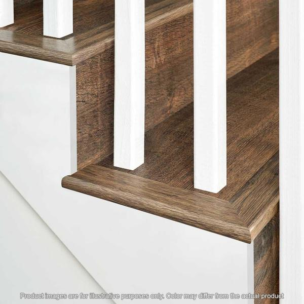 Pergo Northern Blonde Maple 75 In Thick X 2 36 In Wide X 78 7 In Length Laminate Stairnose Molding Mg001881 The Home Depot
