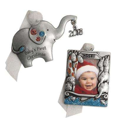 Baby Elephant and Noah's Ark Ornament Set