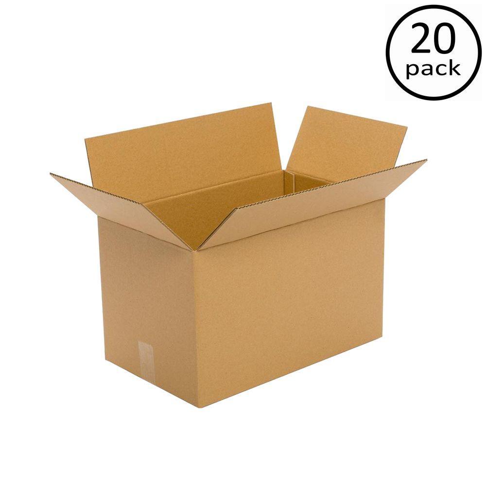 20 in. L x 16 in. W x 14 in. D Multi-depth Moving Box (20-Pack)