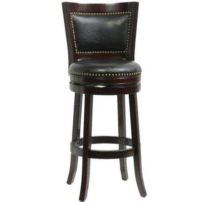 Bristol 29 in. Cappuccino Swivel Cushioned Bar Stool