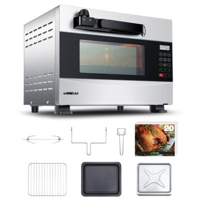 GoWISE USA-1600-Watts Stainless Steel 27 Qt. Electric Programmable Pressure Oven with Rotisserie Function and DIY Presets
