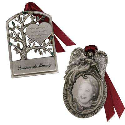 Angel Frame and Tree Memorial Ornament Set