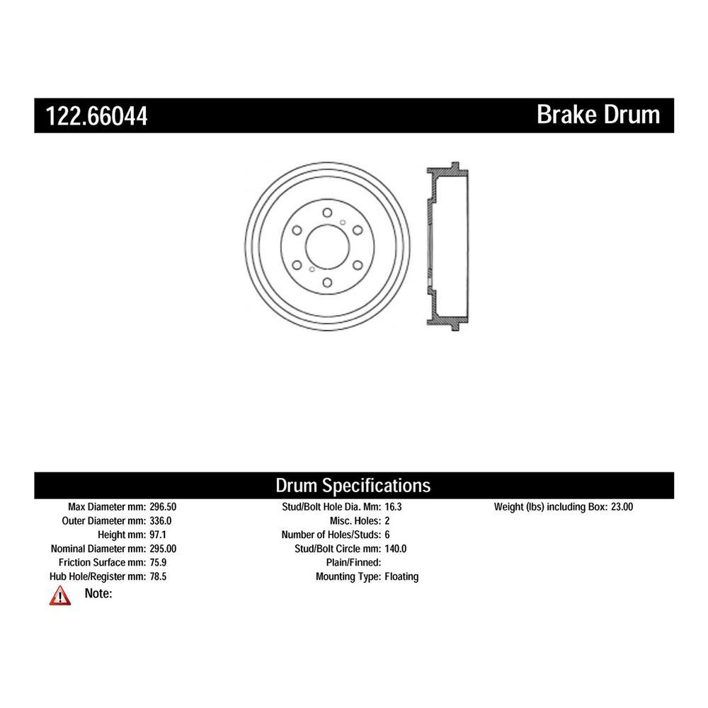 centric brake drum