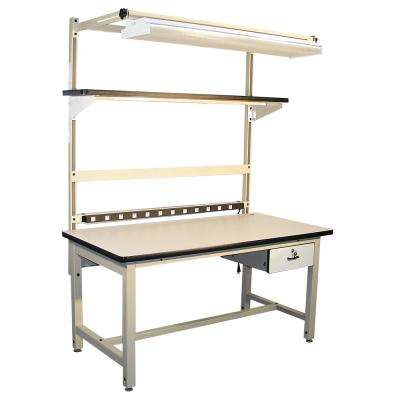 72 in. x 30 in. Beige Heavy Duty Work Bench with Plastic Laminate Surface