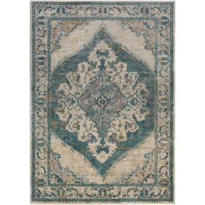 Marrakesh Teal 5 ft. x 7 ft. Indoor Area Rug