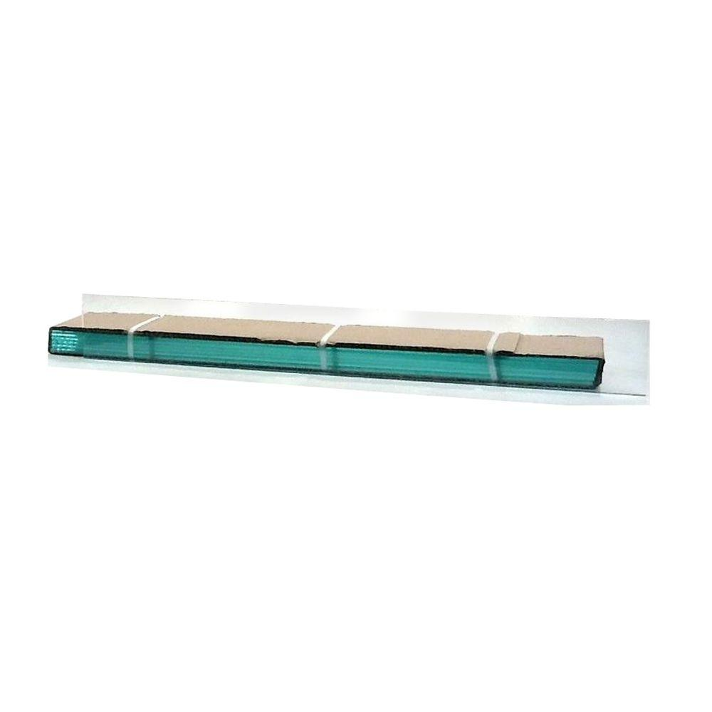 TAFCO WINDOWS 20 in. x 4 in. Jalousie Slats of Glass with Clear Polished Edges 5/CA