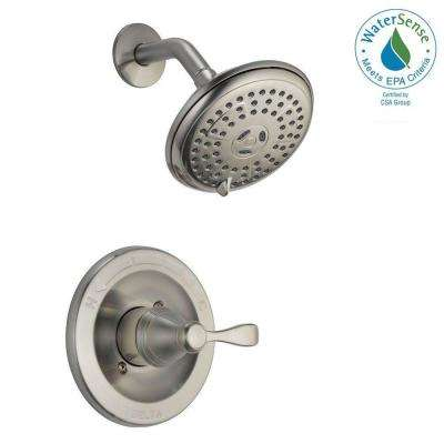 Porter Single Handle 3 Spray Shower Faucet In Brushed Nickel (Valve  Included)