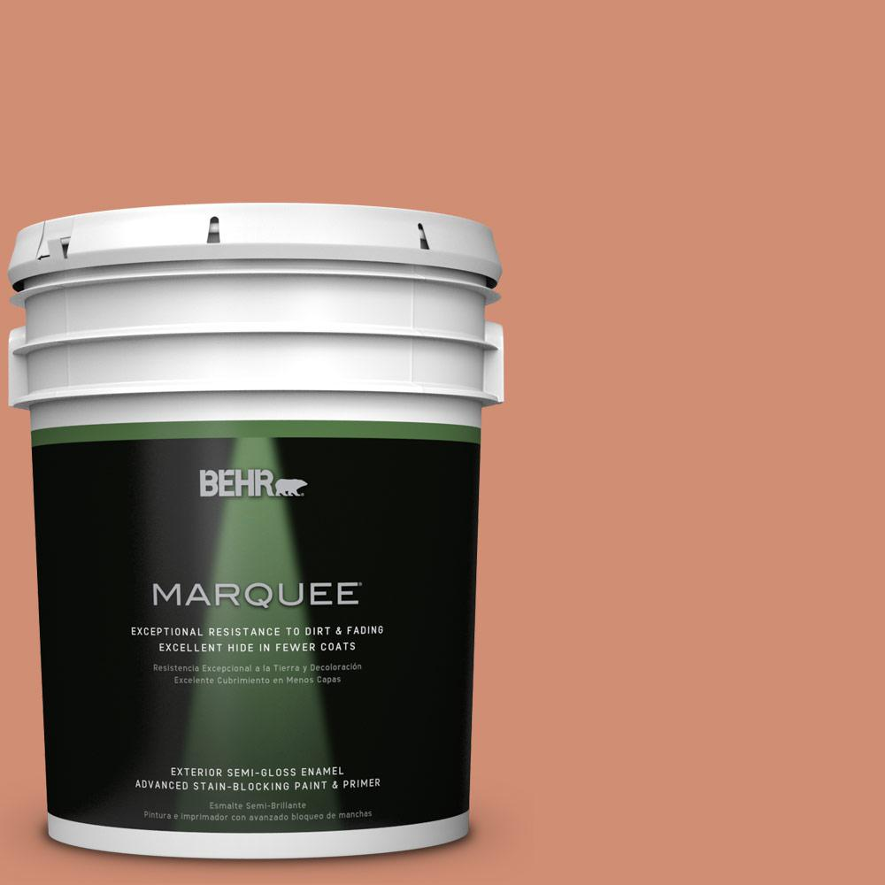 5-gal. #M200-5 Terra Cotta Clay Semi-Gloss Enamel Exterior Paint