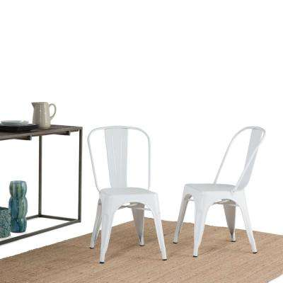 Fletcher White Metal Dining Side Chair (Set of 2)