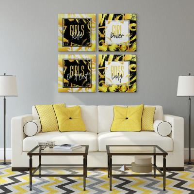 """""""Girls Series"""" High Resolution Graphic Art Print on Wrapped Canvas Wall Art"""