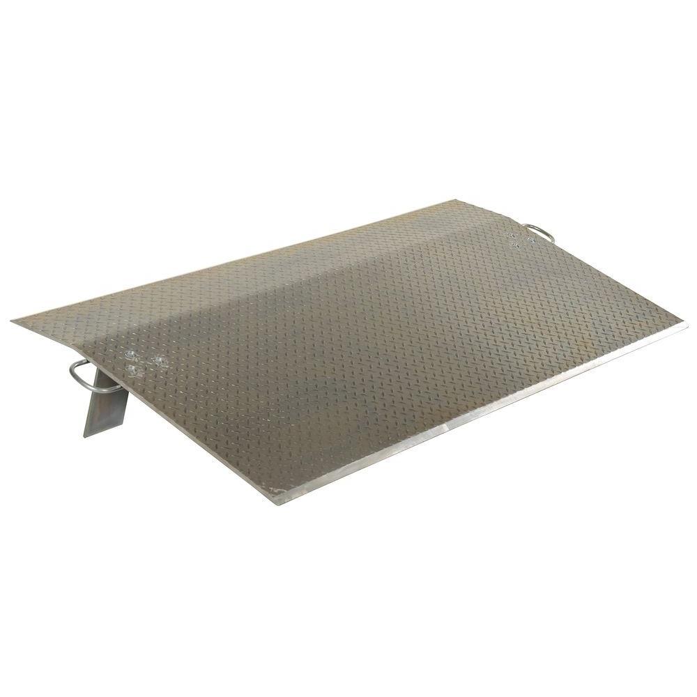 4,300 lb. 36 in. x 36 in. x 0.5 in. Aluminum Economy Dockplate