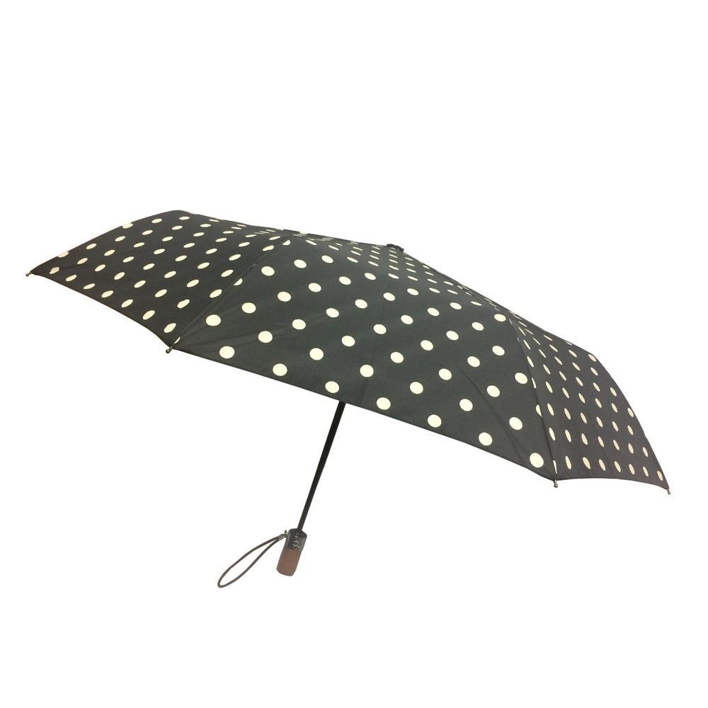 44 in. Arc Canopy 3 Sectional Telescopic Mini Auto Open Auto Close Umbrella in Dot
