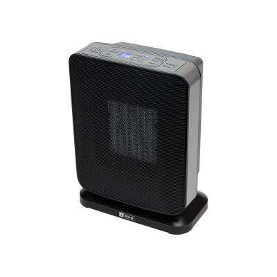 1500-Watt Ceramic Electronic Portable Heater with GFCI Plug Black