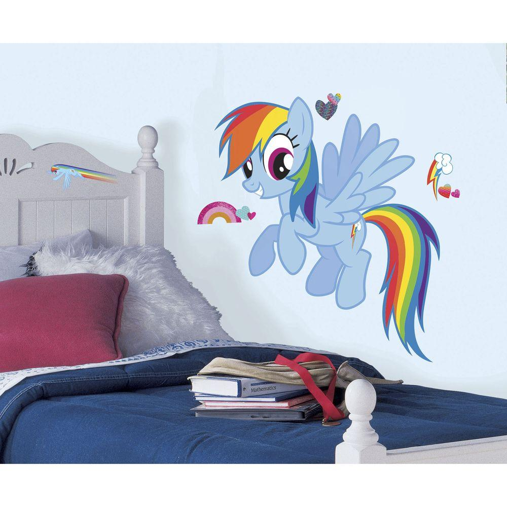 Roommates 25 8 in x 30 4 in rainbow dash peel and stick for 8 sheet giant wall mural