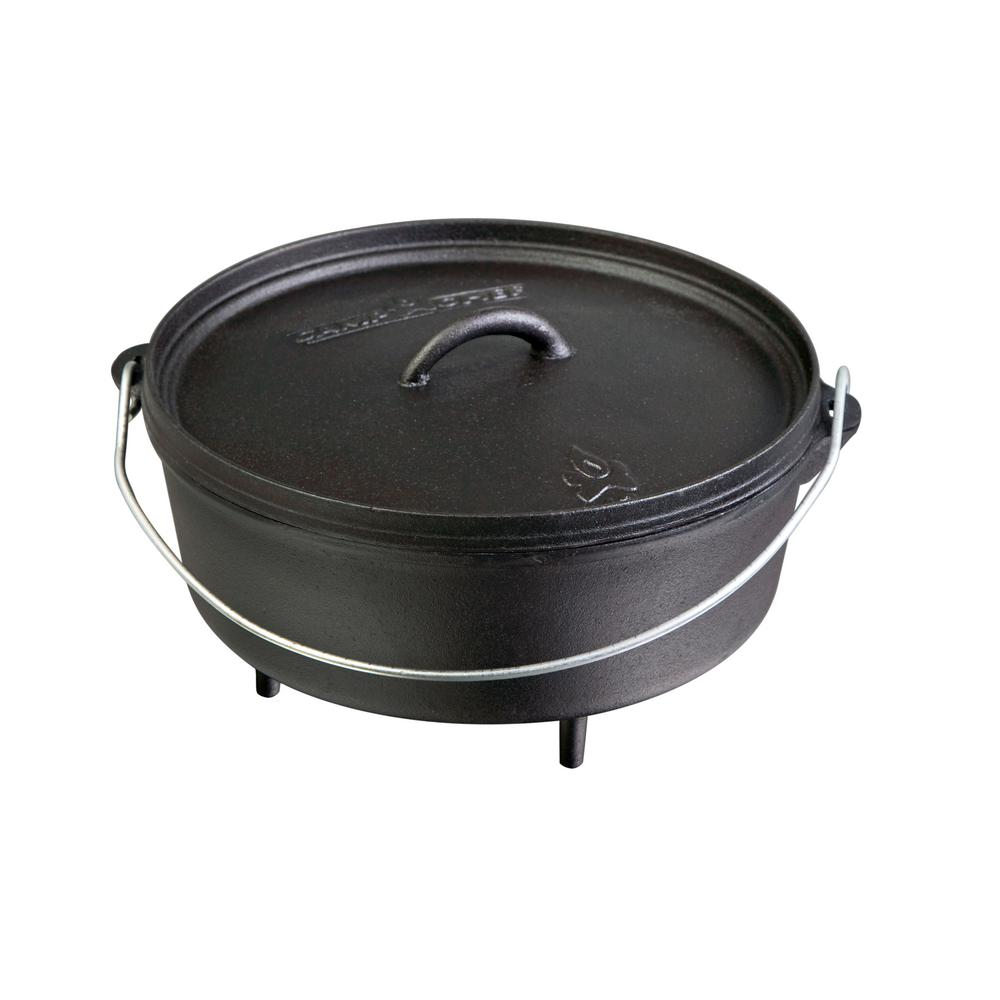 Camp Chef Classic Preseasoned Cast Iron 12 in. Dutch Oven
