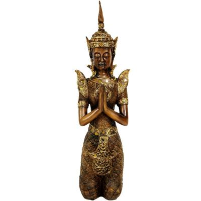 Oriental Furniture 16 in. Thepenom Thai Angel Decorative Statue