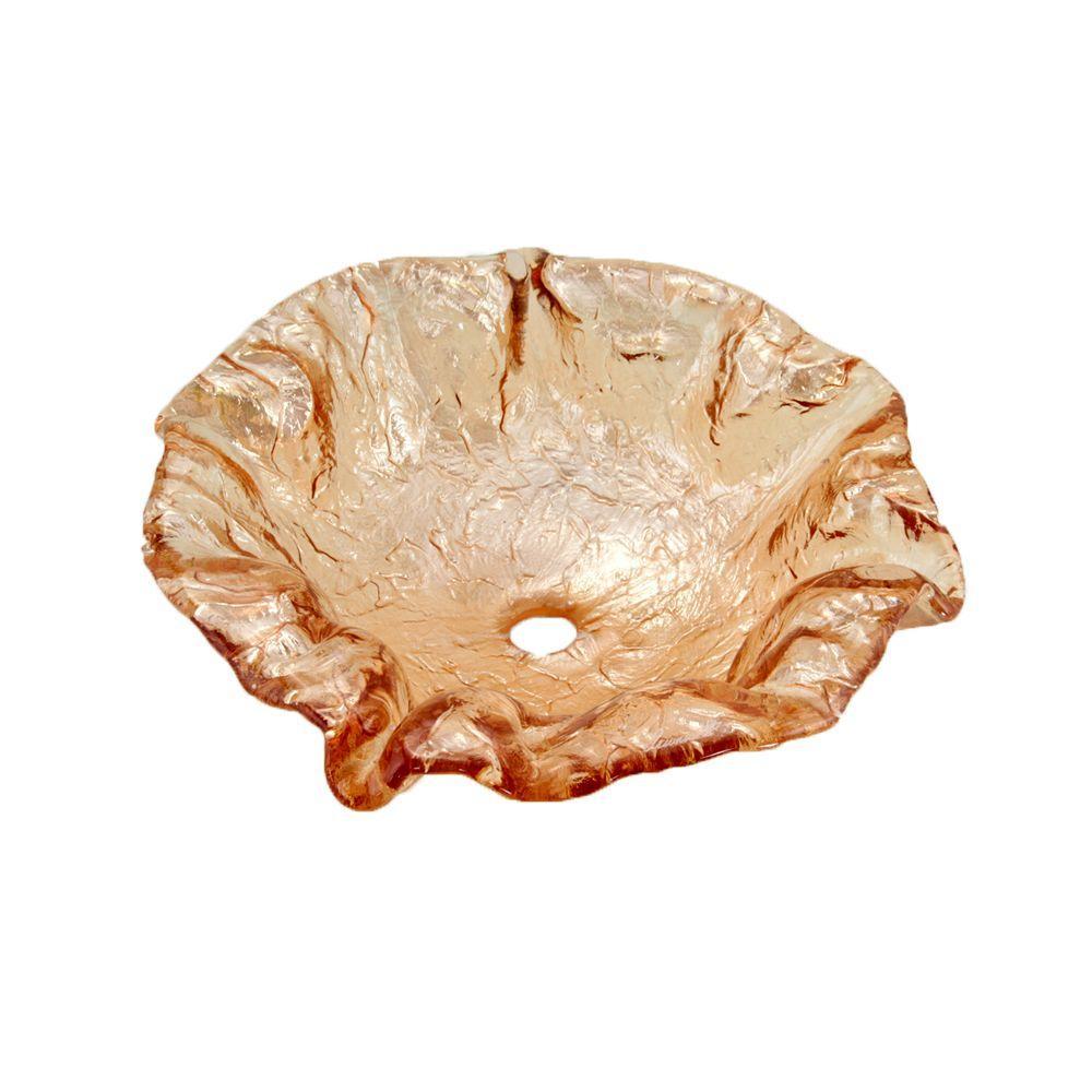 JSG Oceana Alina Art Vessel Sink in Champagne Gold