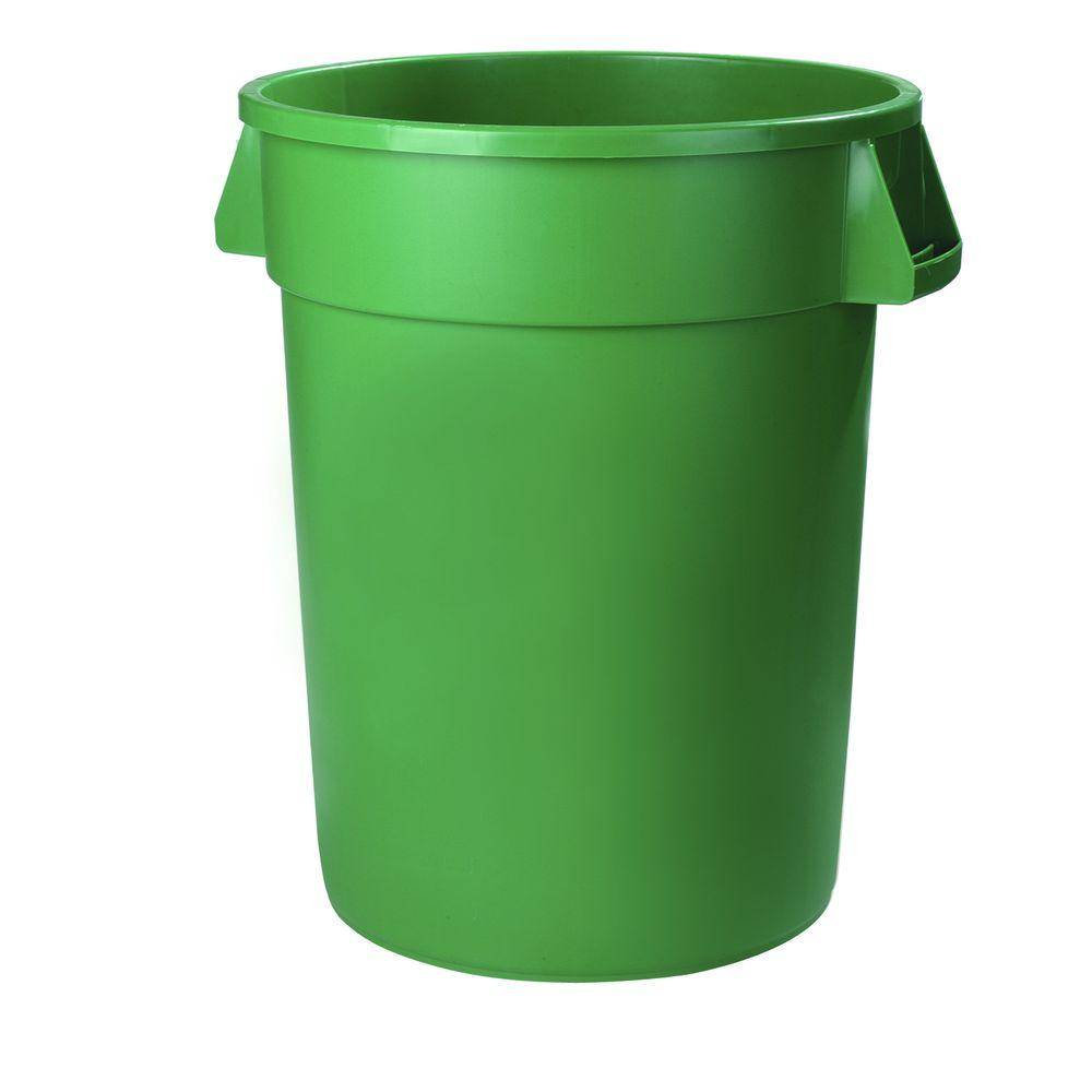 Bronco 20 Gal. Green Round Trash Can (6-Pack)