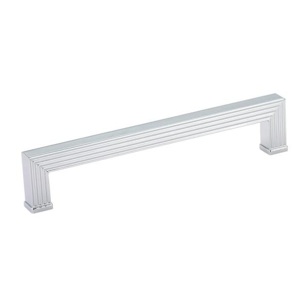 7-9/16 in. (192 mm) Center-to-Center Chrome Transitional Drawer Pull