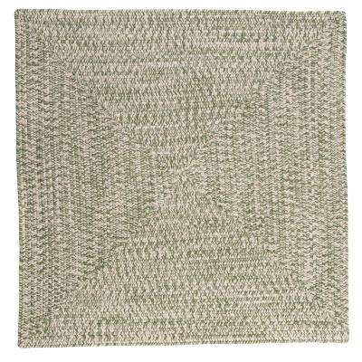 Marilyn Tweed Moss 6 ft. x 6 ft. Square Braided Rug
