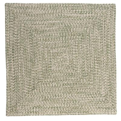 Marilyn Tweed Moss 10 ft. x 10 ft. Square Braided Rug