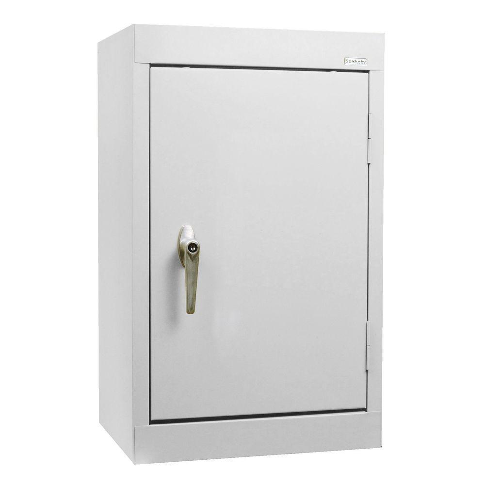 26 in. H x 18 in. W x 12 in. D Wall Cabinet in Dove Grey