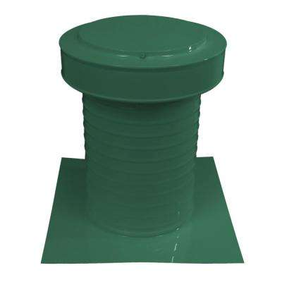 9 in. Dia Keepa Vent an Aluminum Static Roof Vent for Flat Roofs in Green